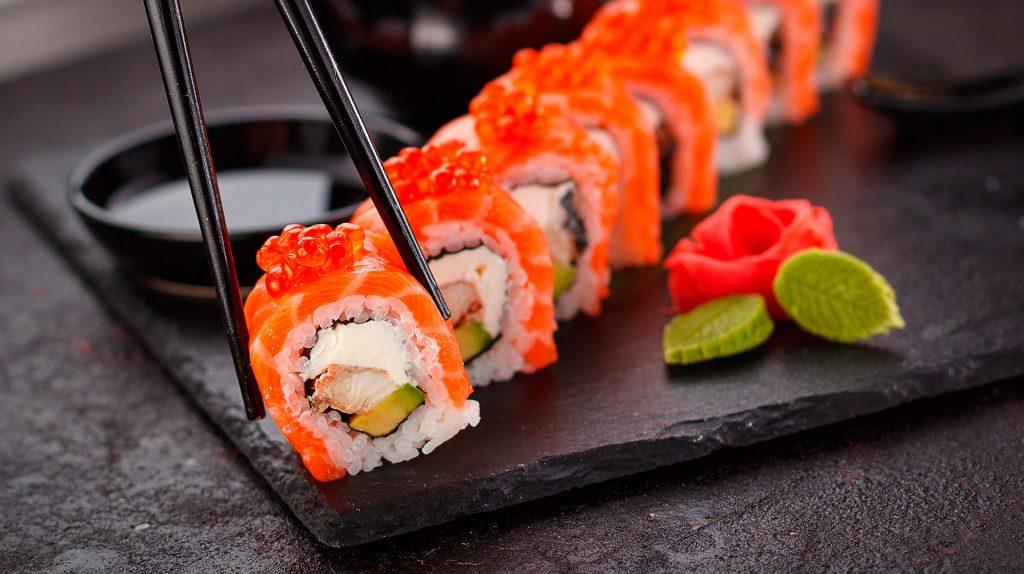 Japansk sushi i London